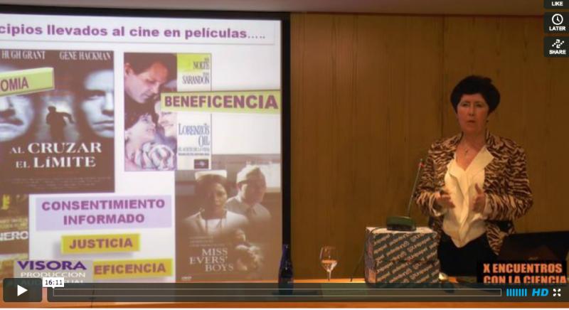 """Vídeo de la conferencia """"Desarrollo de medicamentos: ¿Podemos imaginar un mundo sin medicamentos?"""""""