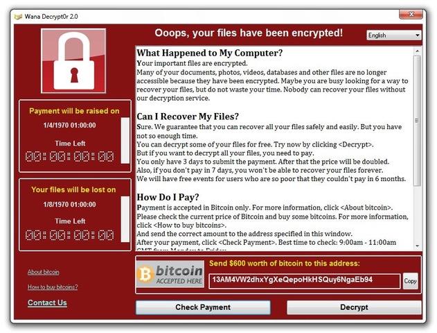 Wannacry: el virus informático que nos hace tener miedo a encender el ordenador…